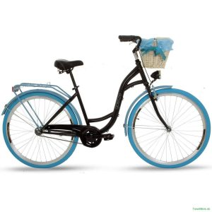 Retro bicykel GOETZE COLOURS čierno-modrý