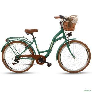 Retro bicykel GOETZE MOOD smaragdovo-hnedý