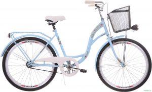 "Retro bicykel 26"" 1 prevodový slabo modrý 2019"