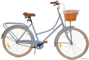 """Retro bicykel dámsky 26"""" 1 prevodový modro krémový 2019"""