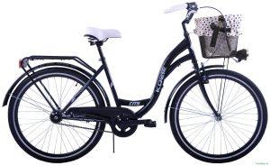 """Retro bicykel KOZBIKE 26"""" 1 prevodový čierny 2019"""