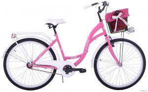 """Retro bicykel KOZBIKE 26"""" 1 prevodový ružový 2019"""