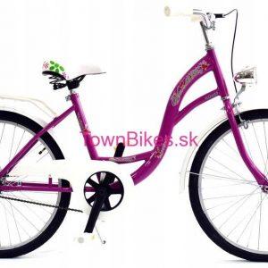 """RETRO bicykel detský 24"""" 1 prevodový fialový 2019"""