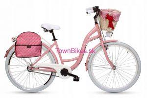 Taška/kabelka na zadný nosič ružová2 15L