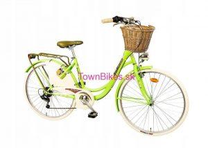 """Retro bicykel INDIANA 26"""" 6 Prevodový zelený 2019"""