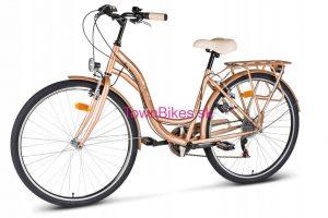 "Retro bicykel VELLBERG zlatý 26"" 6 prevodový 2019"