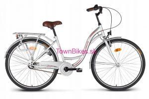 Retro bicykel VELLBERG striebornej farby 26 3-prevodový 2019