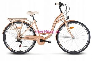 Retro bicykel VELLBERG exluzívny zlatej farby 26 3-prevodový 2019