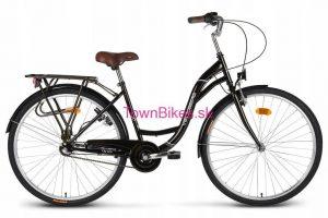 Retro bicykel VELLBERG čiernej farby 26 3-prevodový 2019