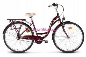 Retro bicykel VELLBERG višňovej farby 26 3-prevodový 2019