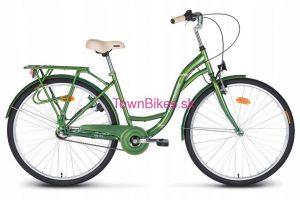 Retro bicykel VELLBERG zelenej farby 26 3-prevodový 2019