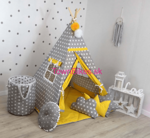 Teepee stan DOTS YELLOW