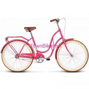 """Retro bicykel štýlový pre dámy 26"""" 1 prevodový fialový 2019"""