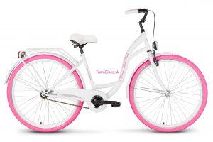 Retro bicykel VELLBERG - Bielo-ružový EXKLUZÍVNY