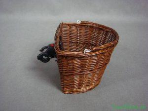 Prútený košík na retro bicykel HNEDÝ
