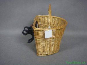 Prútený košík na retro bicykel