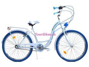 Retro bicykel DALLAS bielo-modrý