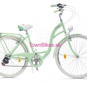 Retro bicykel DALLAS pistáciový