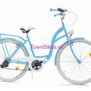 Retro bicykel DALLAS modro-biely