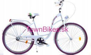 Retro bicykel DALLAS bielo fialový