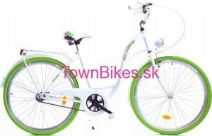 """Retro bicykel dámsky mestský retro bicykel 28"""" 1 prevodový bielo zelený 2019"""