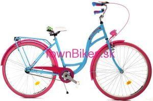 Retro bicykel DALLAS modro-ružový