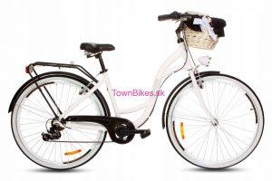 Retro bicykel hliníkový GOETZE MOOD bielo-čierny