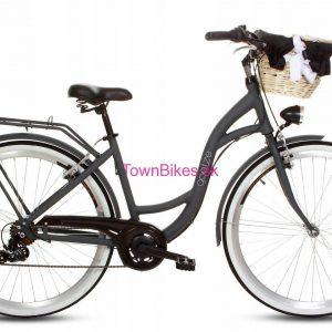 Retro bicykel hliníkový GOETZE MOOD šedý