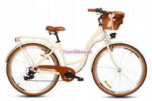 Retro bicykel hliníkový GOETZE MOOD krémový