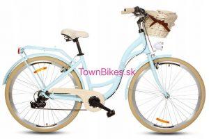 Retro bicykel hliníkový GOETZE MOOD slabo modrý