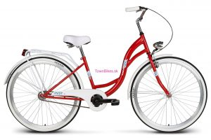 "Retro bicykel Vellberg Lavender 26"" bielo-červený NOVINKA 2019"