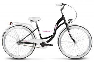 "Retro bicykel Vellberg Lavender 26"" čierno-biely NOVINKA 2019"