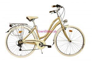 """Retro bicykel Taliansky zlatej farby 28"""" 6 prevodový hliníkový 2019"""