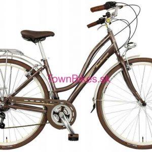 """Retro bicykel Taliansky hnedej farby 28"""" 21 prevodový hliníkový 2019"""