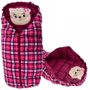 Oteplený detský fusak BEAR BURGUNDY
