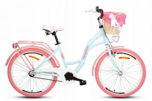 Detský retro bicykel GOETZE STYLE modro-ružový