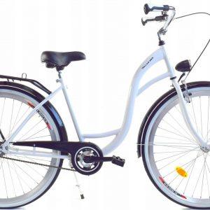 Retro bicykel DALLAS bielo čierny