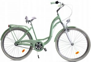 Hliníkový Retro bicykel DALLAS bielo-zelený odpružený