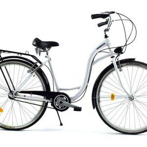Retro bicykel DALLAS bielo-čierny