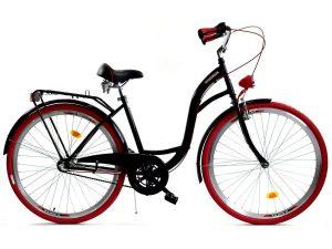 """Retro bicykel čierno-červený 28"""" 3-prevodový"""