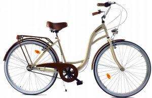 Retro bicykel DALLAS krémovo-hnedý