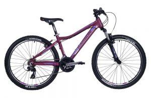Horský bicykel hliníkový Karbon 26 MTB X3 fialový