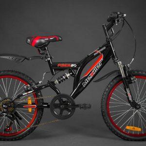 Retro bicykel DALLAS červeno-čierny