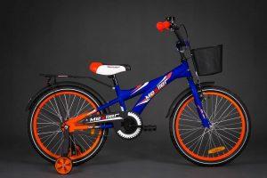 Detský bicykel MEXLLER modro-oranžový 4+