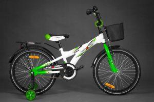 Detský bicykel MEXLLER bielo-zelený 4+