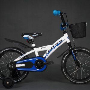 Detský bicykel TURBO bielo-modrý 4+