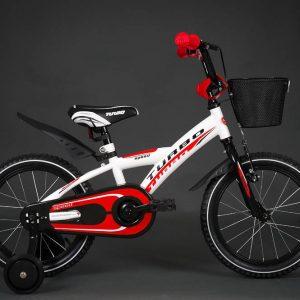 Detský bicykel TURBO bielo-červený 4+
