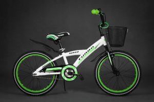 Detský bicykel TURBO bielo-zelený 5+