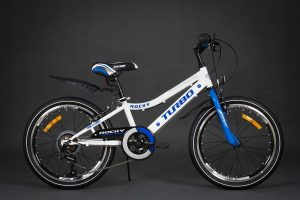 Detský bicykel TURBO bielo-modrý 5+