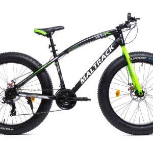 Horský bicykel MALTRACK FATBIKE čierno-zelený